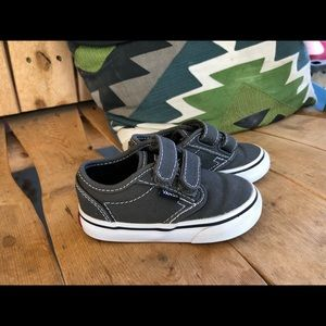 Vans gray Velcro shoes toddler sz 5